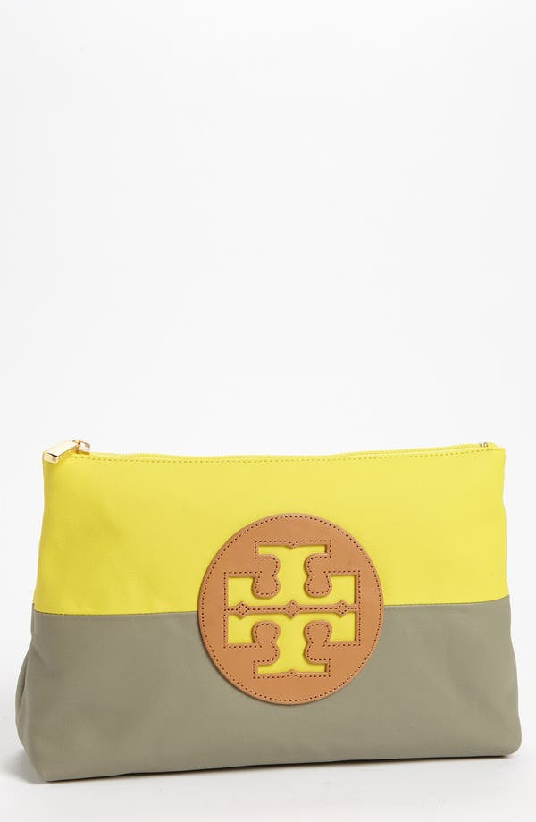 Main Image - Tory Burch 'Large' Dipped Canvas Cosmetics Case