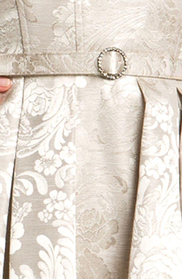 Alternate Image 3  - Eliza J Strapless Belted Jacquard Dress