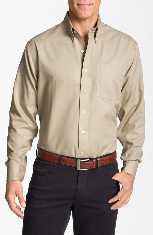 Alternate Image 1 Selected - Cutter & Buck 'Nailshead - Epic Easy Care' Classic Fit Sport Shirt (Big & Tall)