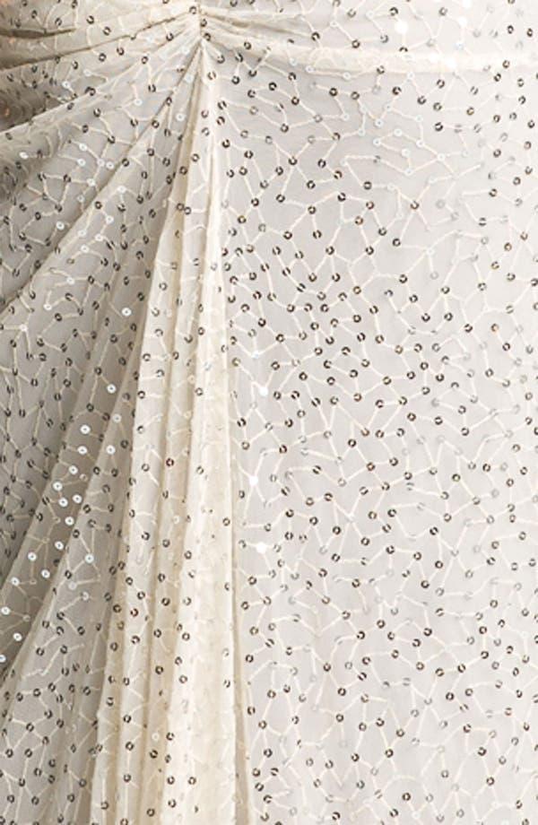Alternate Image 3  - Tadashi Shoji Sequin Ruched Mesh Gown