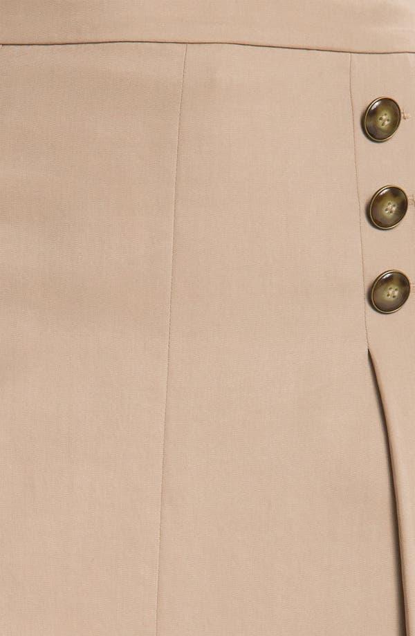Alternate Image 3  - Halogen® Button Trim A-Line Skirt