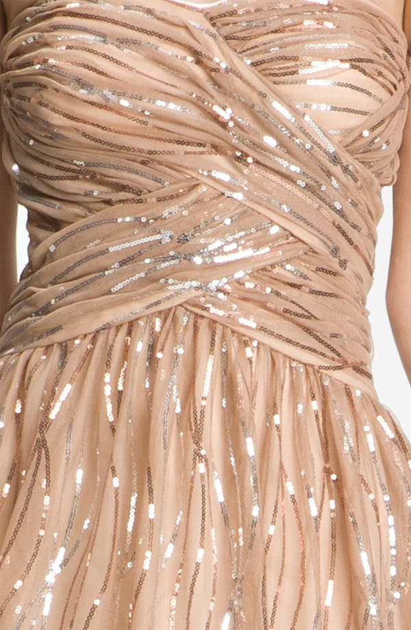 Alternate Image 3  - Hailey by Adrianna Papell Strapless Sequined Mesh Dress