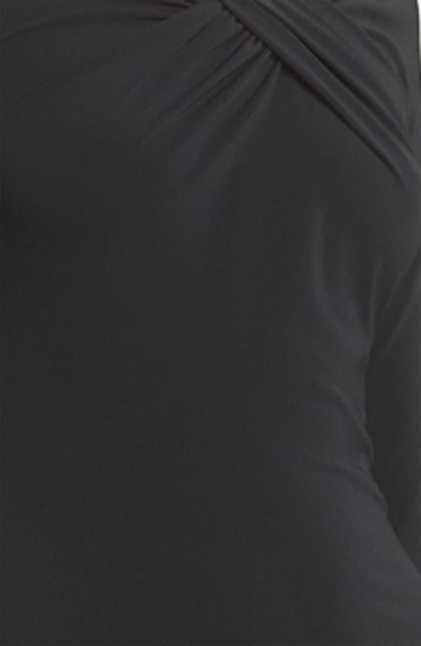 Alternate Image 3  - Armani Collezioni Twist Front Matte Jersey Gown