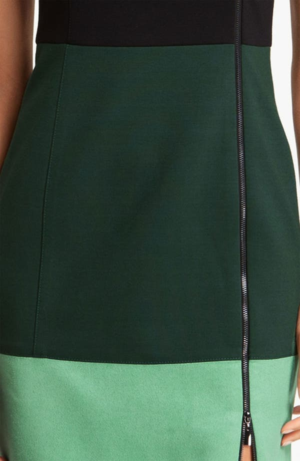 Alternate Image 3  - Laundry by Shelli Segal Colorblock Exposed Zipper Sheath Dress (Online Exclusive)