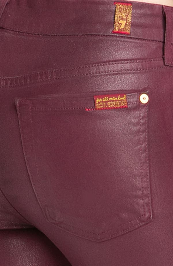 Alternate Image 3  - 7 For All Mankind® Coated Skinny Stretch Jeans (Merlot Coating)