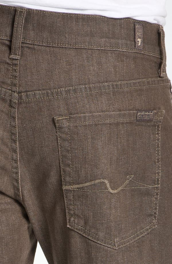 Alternate Image 4  - 7 For All Mankind® Standard Straight Leg Jeans (Kings Canyon)