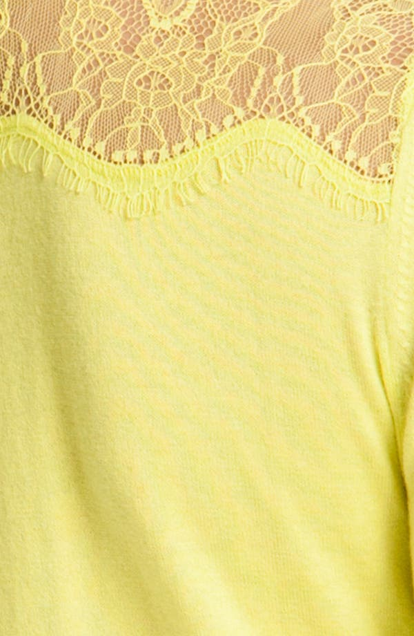 Alternate Image 3  - Juicy Couture Lace Trim Cardigan