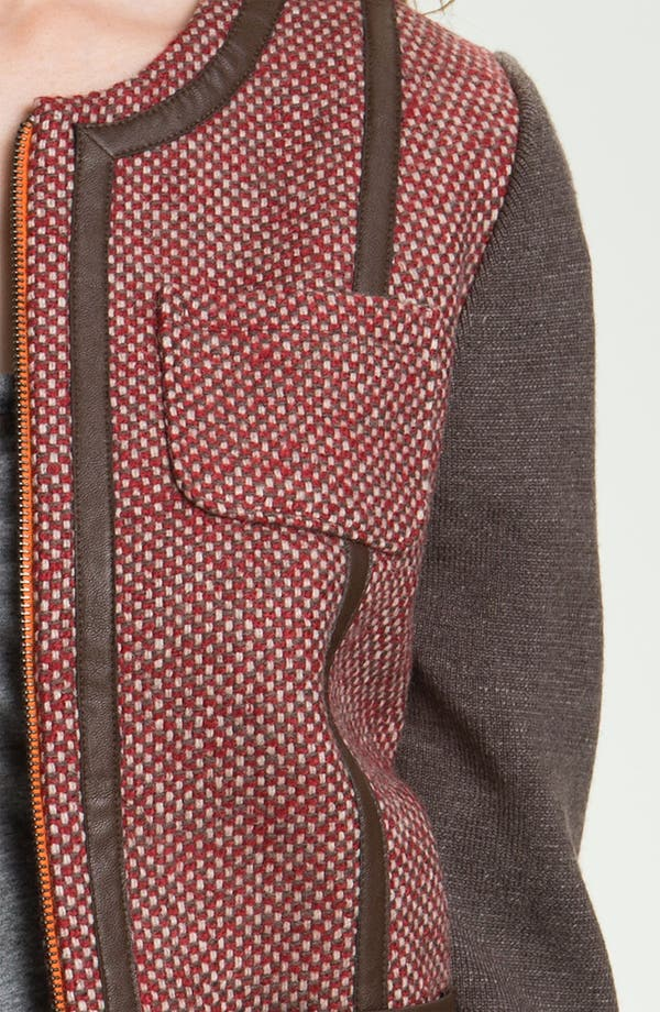Alternate Image 3  - Hinge® Knit Sleeve Tweed Jacket