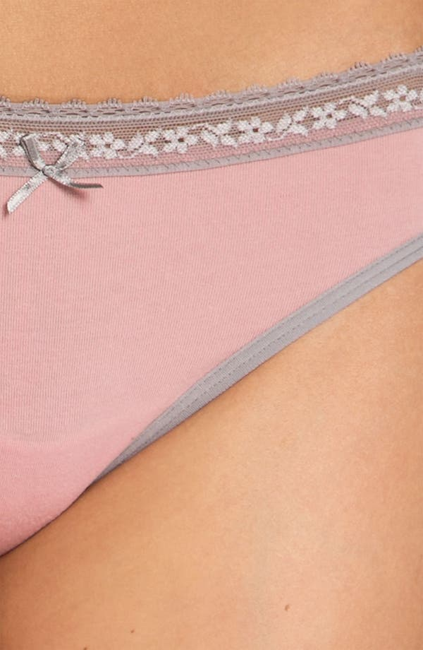 Alternate Image 2  - DKNY 'Delicate Essentials' Thong