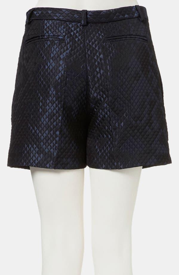 Alternate Image 2  - Topshop Boutique Lustrous Quilted Shorts