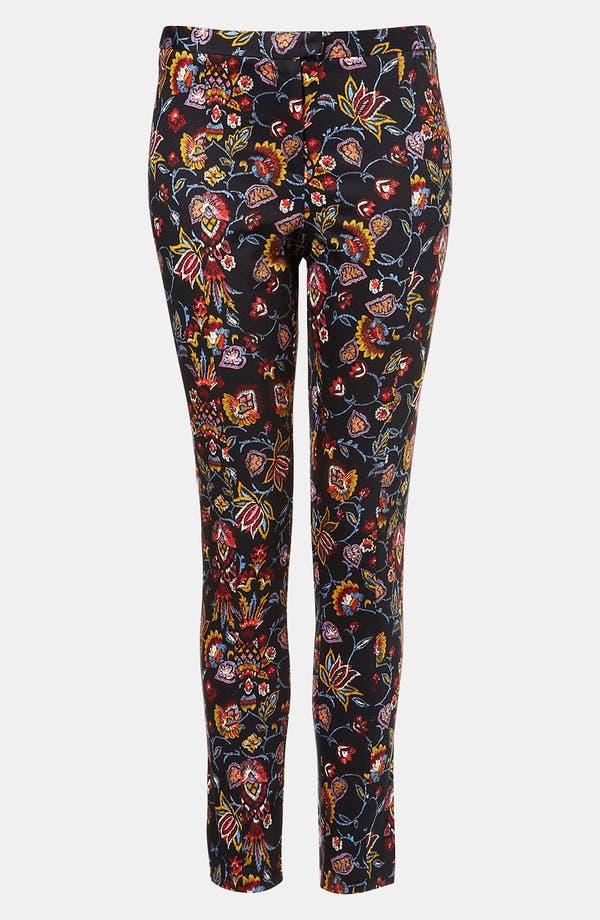 Main Image - Topshop Print Skinny Pants