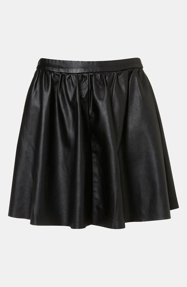 Alternate Image 1 Selected - Topshop Faux Leather Skater Skirt