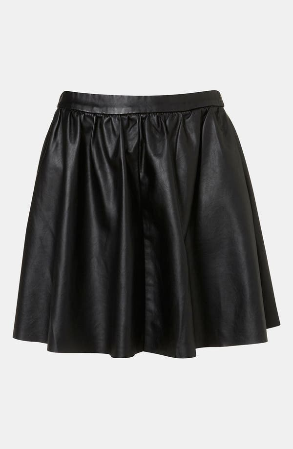 Main Image - Topshop Faux Leather Skater Skirt