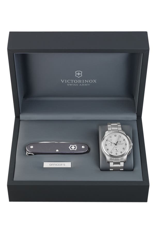 Alternate Image 1 Selected - Victorinox Swiss Army® 'Officer's' Chronograph Watch with Knife, 42mm