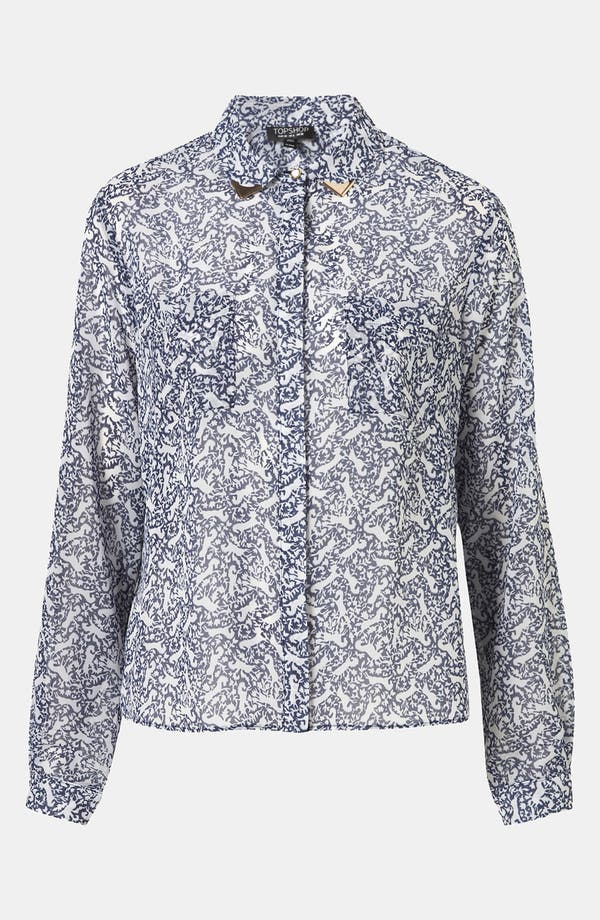 Alternate Image 1 Selected - Topshop Print Western Tip Shirt