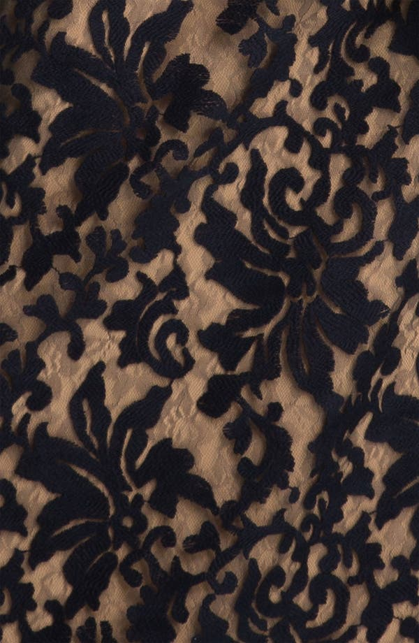 Alternate Image 3  - Tadashi Shoji Lace Overlay Blouson Gown