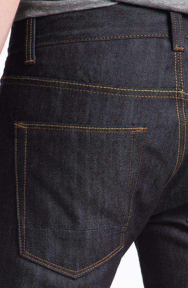 Alternate Image 4  - Topman 'Flynn' Skinny Jeans (Indigo)