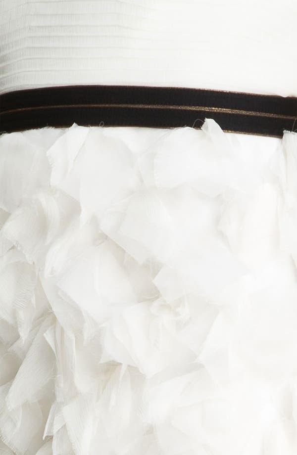 Alternate Image 3  - Tadashi Shoji Strapless Ruffle Skirt Silk Chiffon Dress