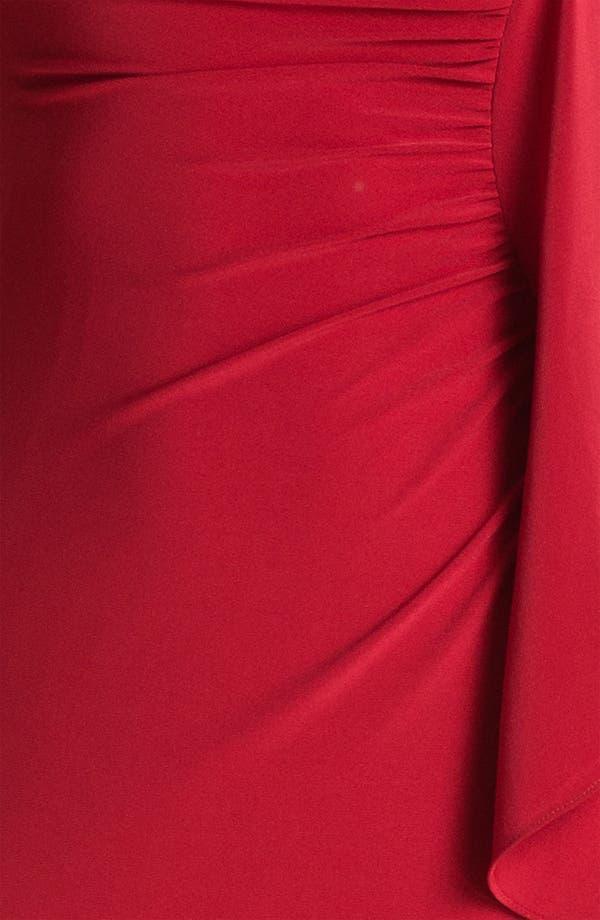 Alternate Image 3  - ABS by Allen Schwartz Ruched One Flutter Sleeve Gown
