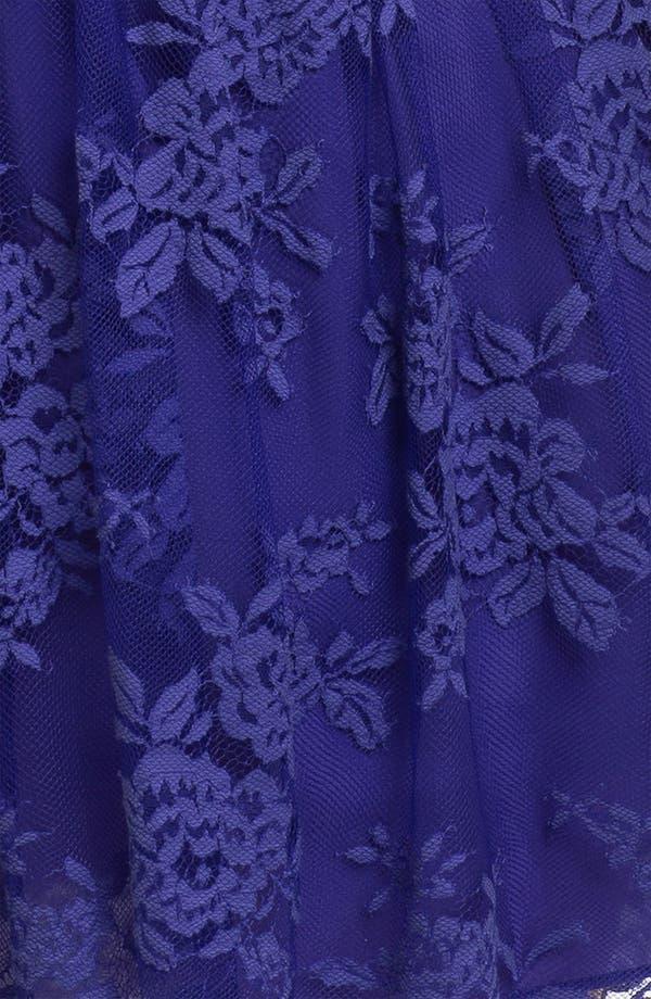 Alternate Image 3  - Nicole Miller Lace Overlay Blouson Dress