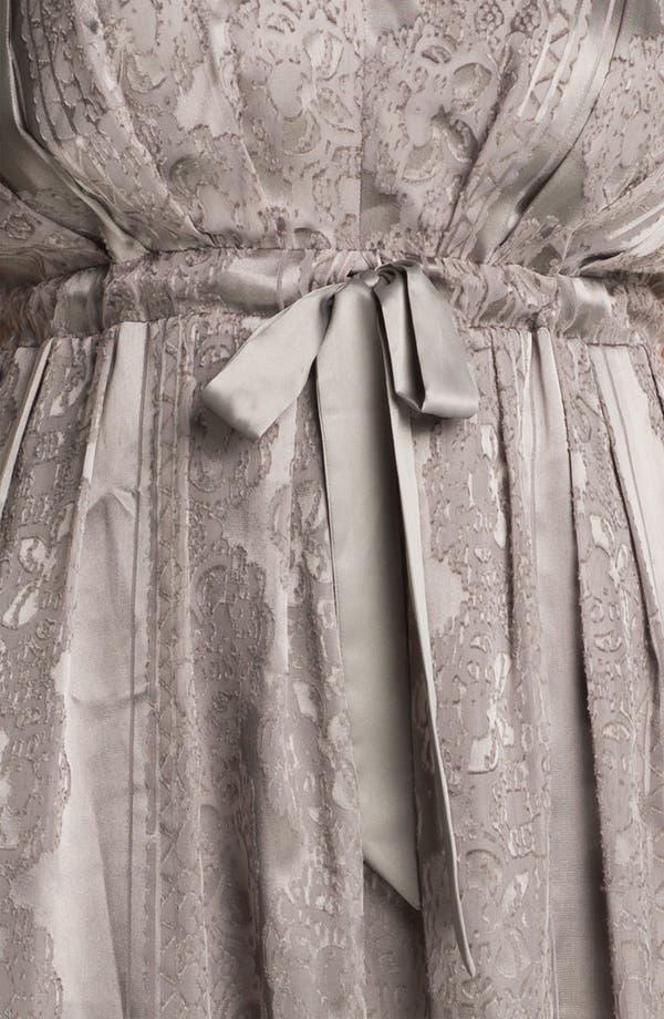 Alternate Image 3  - Jessica Simpson Lace Print Satin Dress (Plus)