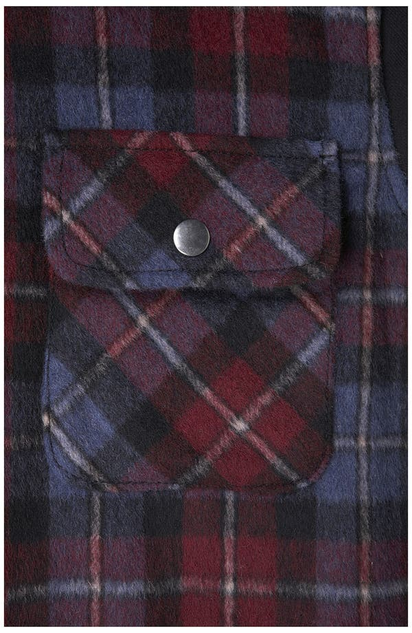 Alternate Image 3  - Topshop Plaid Hooded Jacket