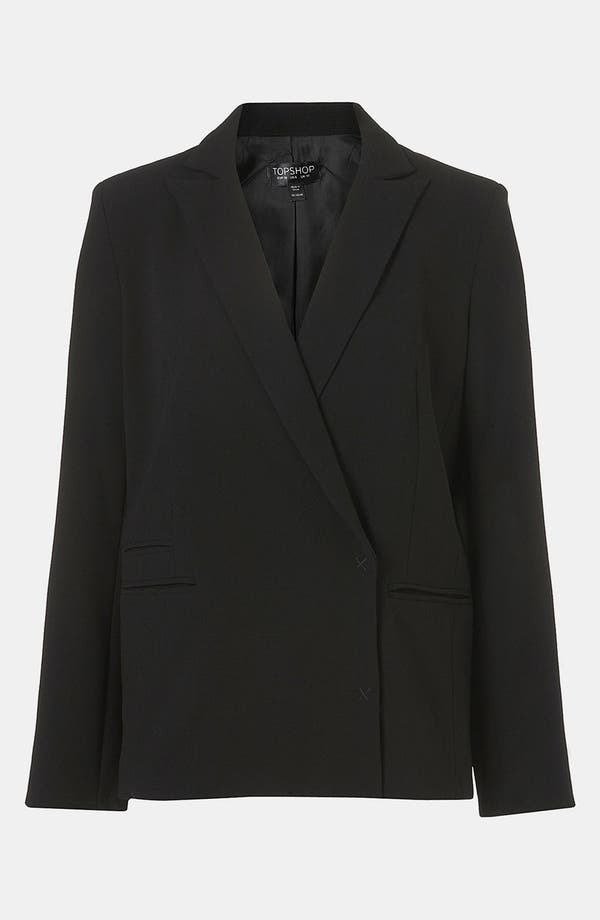 Alternate Image 4  - Topshop Boxy Double Breasted Blazer