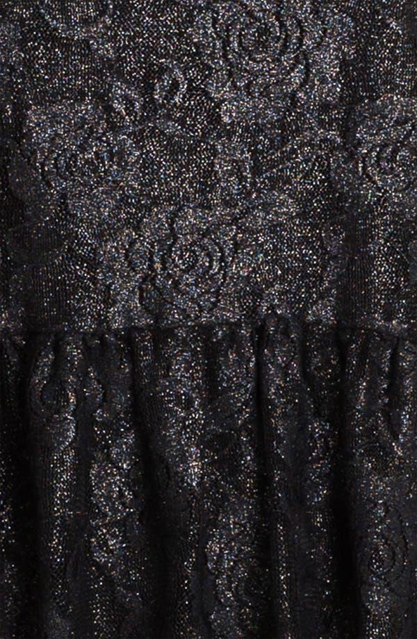 Alternate Image 3  - Living Doll Metallic Lace Tunic (Juniors)