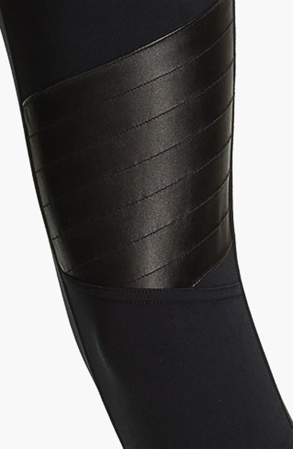 Alternate Image 3  - BP. 'Motorbike' Faux Leather Panel Leggings (Juniors)