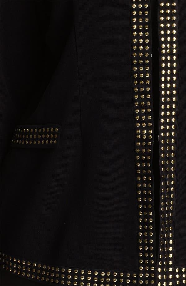 Alternate Image 3  - Exclusively Misook Studded Jewel Neck Jacket (Plus)