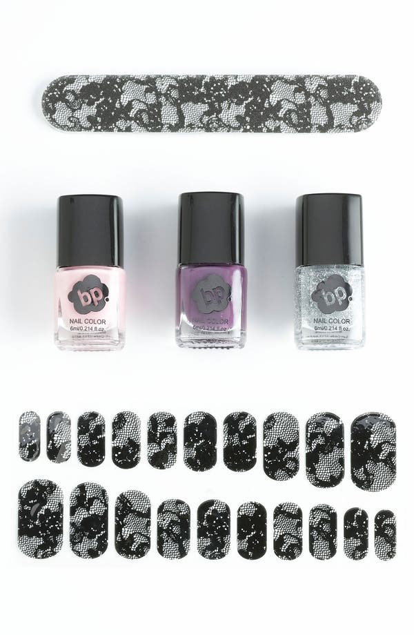 Alternate Image 1 Selected - BP. 'Lace' Nail Set