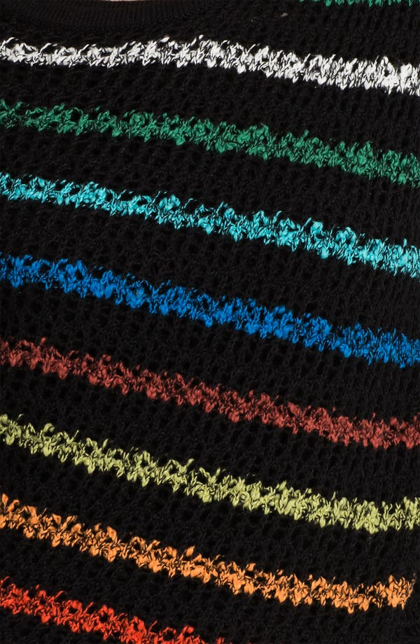 Alternate Image 3  - Nic + Zoe Rainbow Stripe Sweater