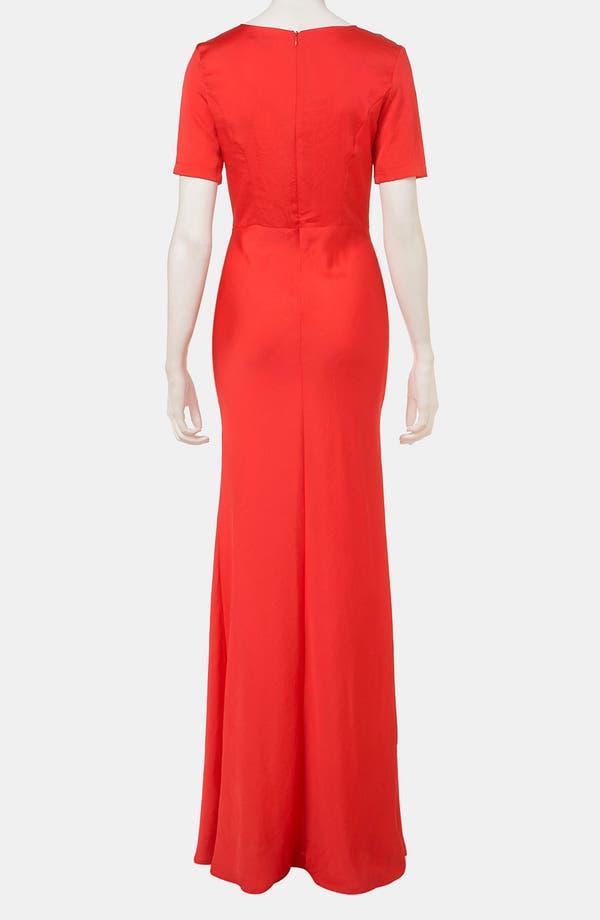Alternate Image 2  - Topshop Fitted Short Sleeve Maxi Dress