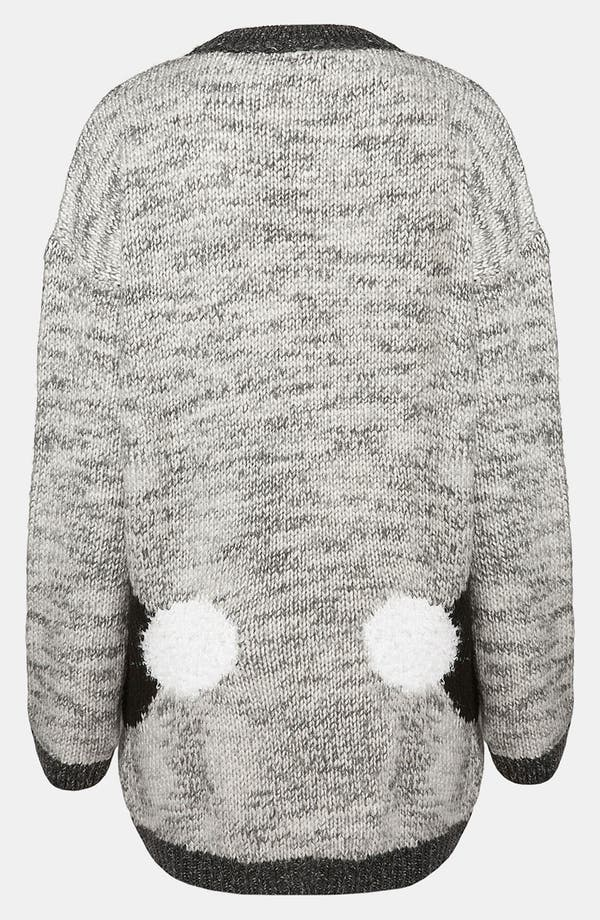 Alternate Image 2  - Topshop 'Mirror Bunnies' Sweater (Petite)