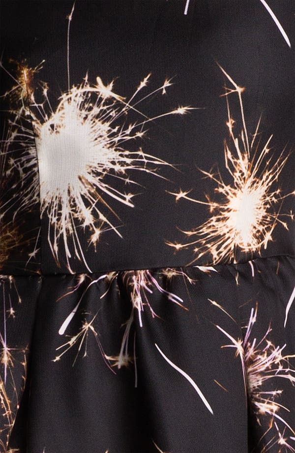 Alternate Image 3  - MSGM Firework Print Silk Gazar Dress