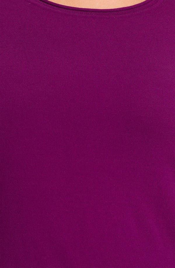 Alternate Image 3  - Lafayette 148 New York Elbow Sleeve Knit Shell (Plus)