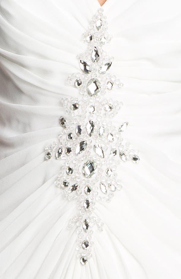 Alternate Image 3  - Tadashi Shoji Embellished Ruched Chiffon Dress