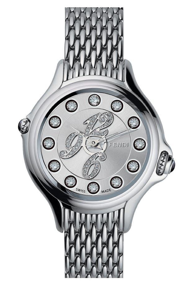 Alternate Image 3  - Fendi 'Crazy Carats' Diamond Dial Bracelet Watch, 38mm
