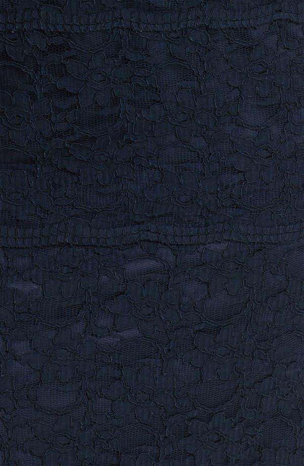 Alternate Image 3  - Eliza J Illusion Sleeve Lace Sheath Dress