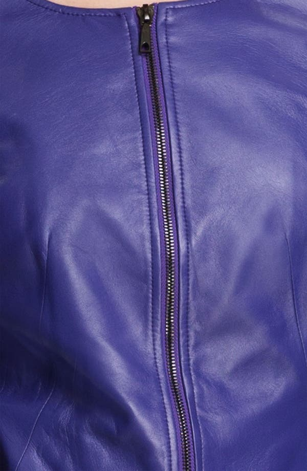 Alternate Image 3  - Lafayette 148 New York Leather Moto Jacket