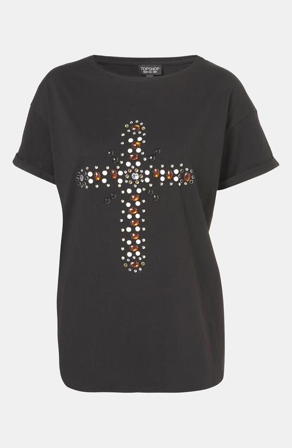 Alternate Image 1 Selected - Topshop Jewel Cross Tee