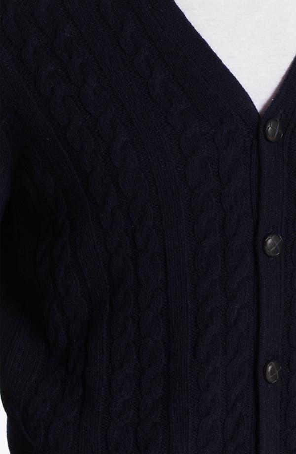 Alternate Image 3  - Ben Sherman Cable Knit Cardigan