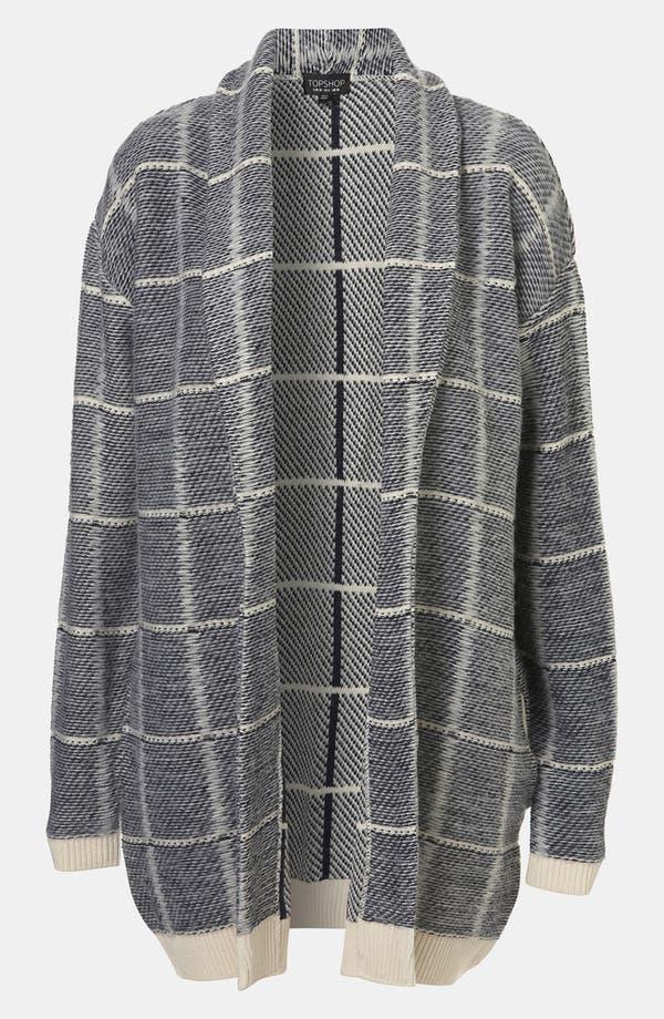 Alternate Image 1 Selected - Topshop Brushed Grid Cardigan