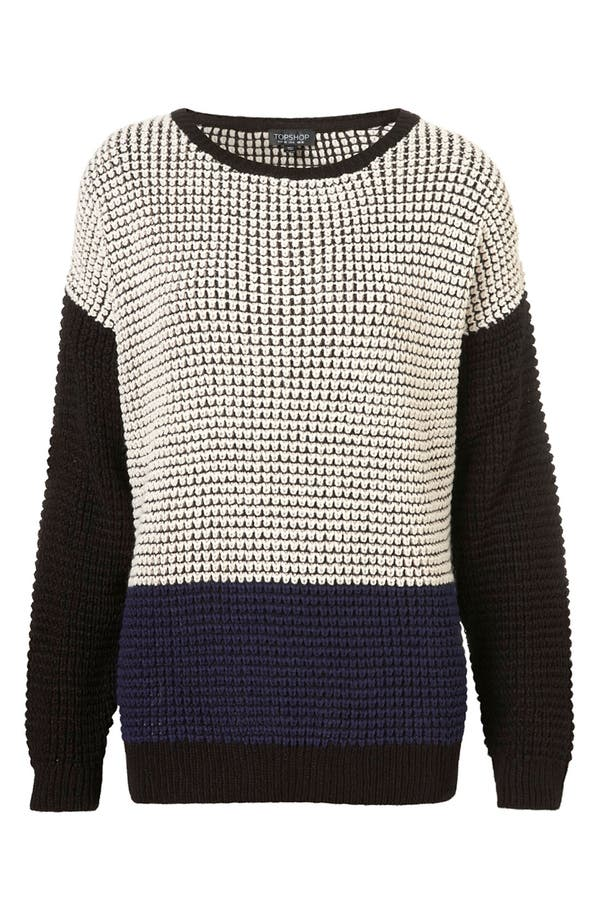 Main Image - Topshop Colorblock Sweater