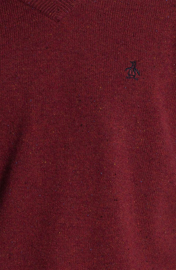 Alternate Image 3  - Original Penguin Speckled Knit V-Neck Sweater