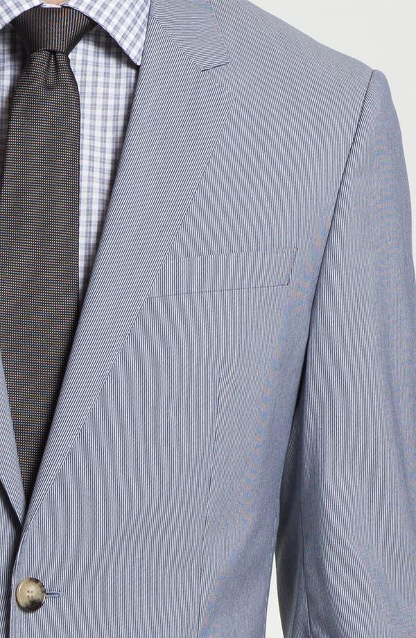Alternate Image 5  - BOSS Black 'Huge/Genius' Trim Fit Cotton Blend Suit
