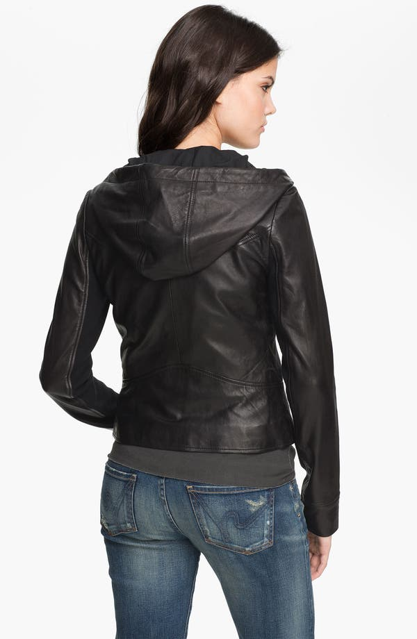 Alternate Image 2  - Trouvé Leather Hoodie