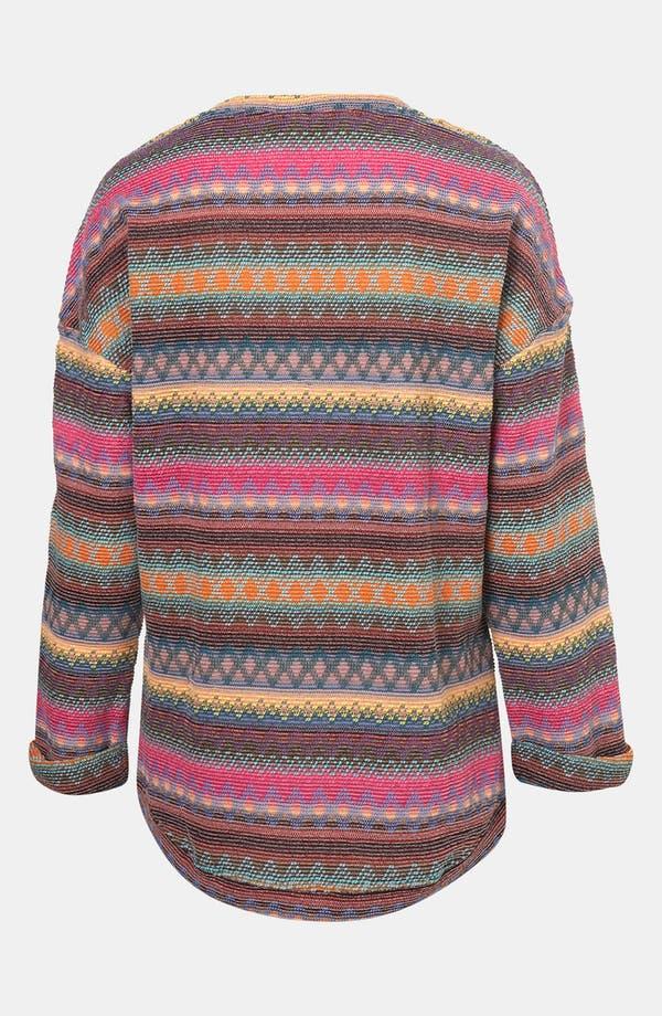Alternate Image 2  - Topshop Vibrant Nordic Knit Sweatshirt