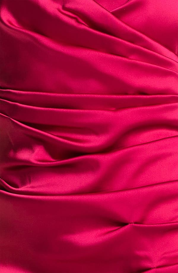 Alternate Image 3  - Calvin Klein V-Neck Ruched Satin Sheath Dress
