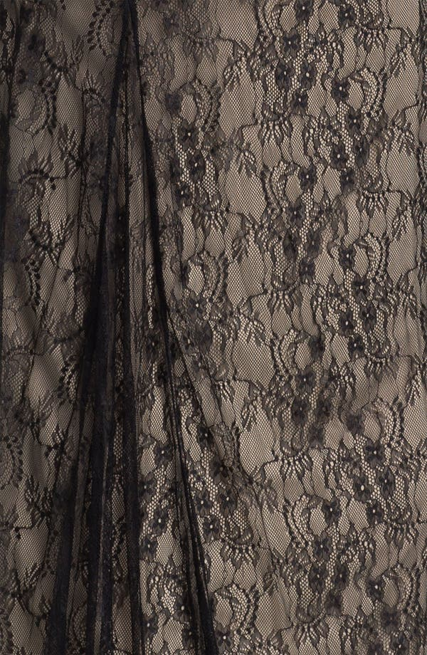 Alternate Image 3  - Wyton V-Neck Ruched Lace Overlay Gown
